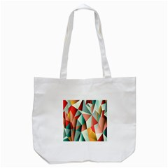 Abstracts Colour Tote Bag (white)