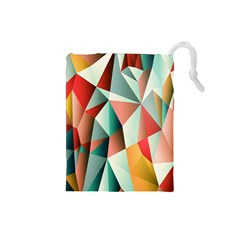 Abstracts Colour Drawstring Pouches (Small)