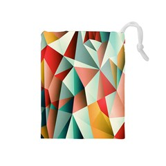 Abstracts Colour Drawstring Pouches (Medium)