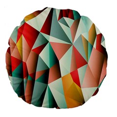 Abstracts Colour Large 18  Premium Flano Round Cushions