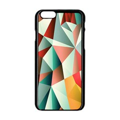 Abstracts Colour Apple iPhone 6/6S Black Enamel Case