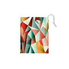 Abstracts Colour Drawstring Pouches (XS)