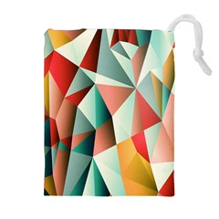 Abstracts Colour Drawstring Pouches (extra Large)