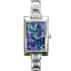 Abstract Ship Water Scape Ocean Rectangle Italian Charm Watch