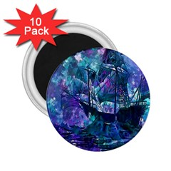 Abstract Ship Water Scape Ocean 2.25  Magnets (10 pack)