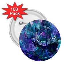 Abstract Ship Water Scape Ocean 2 25  Buttons (100 Pack)