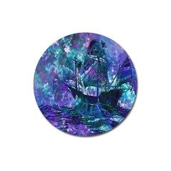 Abstract Ship Water Scape Ocean Magnet 3  (round)