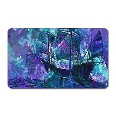 Abstract Ship Water Scape Ocean Magnet (Rectangular)
