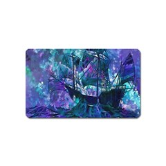 Abstract Ship Water Scape Ocean Magnet (Name Card)
