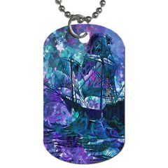 Abstract Ship Water Scape Ocean Dog Tag (Two Sides)