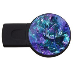 Abstract Ship Water Scape Ocean USB Flash Drive Round (1 GB)