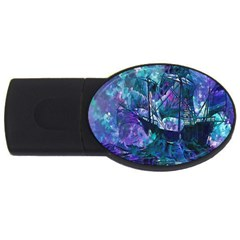 Abstract Ship Water Scape Ocean USB Flash Drive Oval (2 GB)