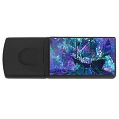 Abstract Ship Water Scape Ocean USB Flash Drive Rectangular (2 GB)