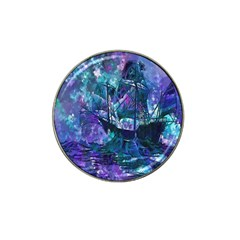 Abstract Ship Water Scape Ocean Hat Clip Ball Marker (4 pack)