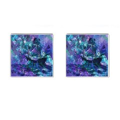 Abstract Ship Water Scape Ocean Cufflinks (Square)