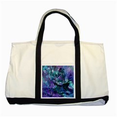 Abstract Ship Water Scape Ocean Two Tone Tote Bag