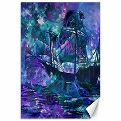 Abstract Ship Water Scape Ocean Canvas 12  x 18