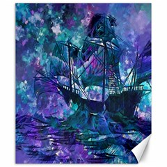 Abstract Ship Water Scape Ocean Canvas 20  x 24