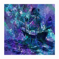 Abstract Ship Water Scape Ocean Medium Glasses Cloth