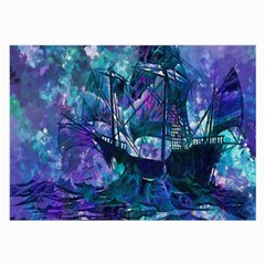 Abstract Ship Water Scape Ocean Large Glasses Cloth (2-Side)
