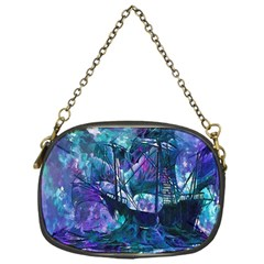 Abstract Ship Water Scape Ocean Chain Purses (One Side)