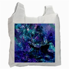 Abstract Ship Water Scape Ocean Recycle Bag (Two Side)