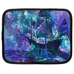 Abstract Ship Water Scape Ocean Netbook Case (XXL)