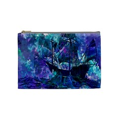 Abstract Ship Water Scape Ocean Cosmetic Bag (Medium)