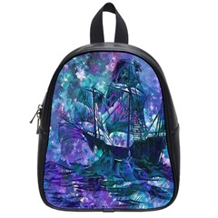 Abstract Ship Water Scape Ocean School Bags (small)