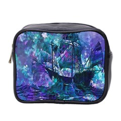 Abstract Ship Water Scape Ocean Mini Toiletries Bag 2-Side