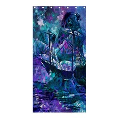 Abstract Ship Water Scape Ocean Shower Curtain 36  x 72  (Stall)