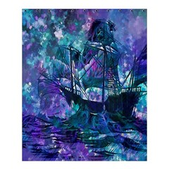 Abstract Ship Water Scape Ocean Shower Curtain 60  x 72  (Medium)