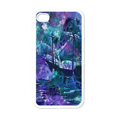 Abstract Ship Water Scape Ocean Apple iPhone 4 Case (White)