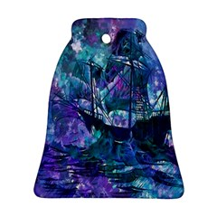 Abstract Ship Water Scape Ocean Ornament (Bell)
