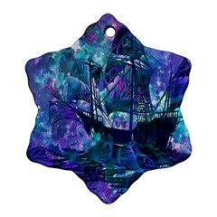 Abstract Ship Water Scape Ocean Snowflake Ornament (Two Sides)