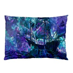 Abstract Ship Water Scape Ocean Pillow Case (Two Sides)