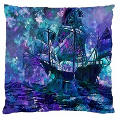 Abstract Ship Water Scape Ocean Large Cushion Case (two Sides)