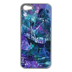Abstract Ship Water Scape Ocean Apple iPhone 5 Case (Silver)