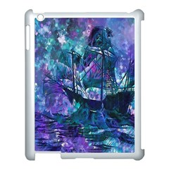 Abstract Ship Water Scape Ocean Apple iPad 3/4 Case (White)