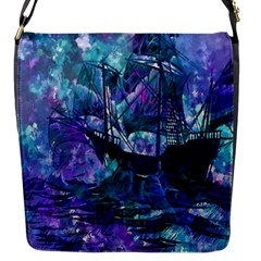 Abstract Ship Water Scape Ocean Flap Messenger Bag (S)