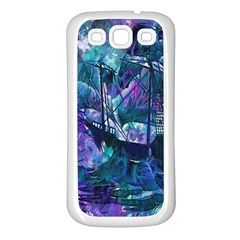 Abstract Ship Water Scape Ocean Samsung Galaxy S3 Back Case (White)