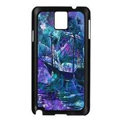 Abstract Ship Water Scape Ocean Samsung Galaxy Note 3 N9005 Case (black)