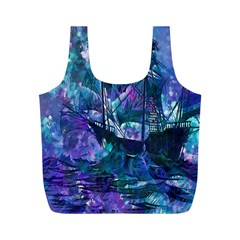 Abstract Ship Water Scape Ocean Full Print Recycle Bags (m)