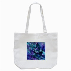 Abstract Ship Water Scape Ocean Tote Bag (white)