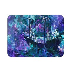 Abstract Ship Water Scape Ocean Double Sided Flano Blanket (Mini)