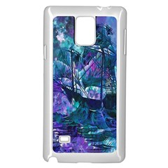 Abstract Ship Water Scape Ocean Samsung Galaxy Note 4 Case (White)