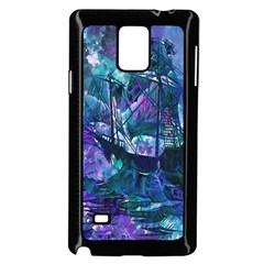 Abstract Ship Water Scape Ocean Samsung Galaxy Note 4 Case (black)