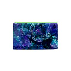 Abstract Ship Water Scape Ocean Cosmetic Bag (XS)