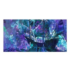 Abstract Ship Water Scape Ocean Satin Shawl