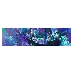 Abstract Ship Water Scape Ocean Satin Scarf (oblong)